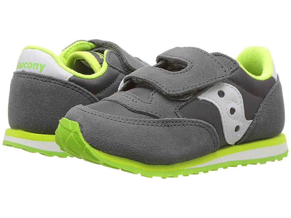 Saucony Kids Originals Jazz Hook Loop (Toddler/Little Kid) (Grey/White) Boys Shoes
