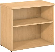 Bush Business Furniture 400 Series 2 Shelf Bookcase in Natural Maple