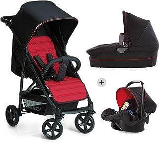 Hauck Rapid 4 Plus Trio Set - Carrito de bebe 3 in 1, de 0 meses a 25 kg, adaptable a Isofix, capazo