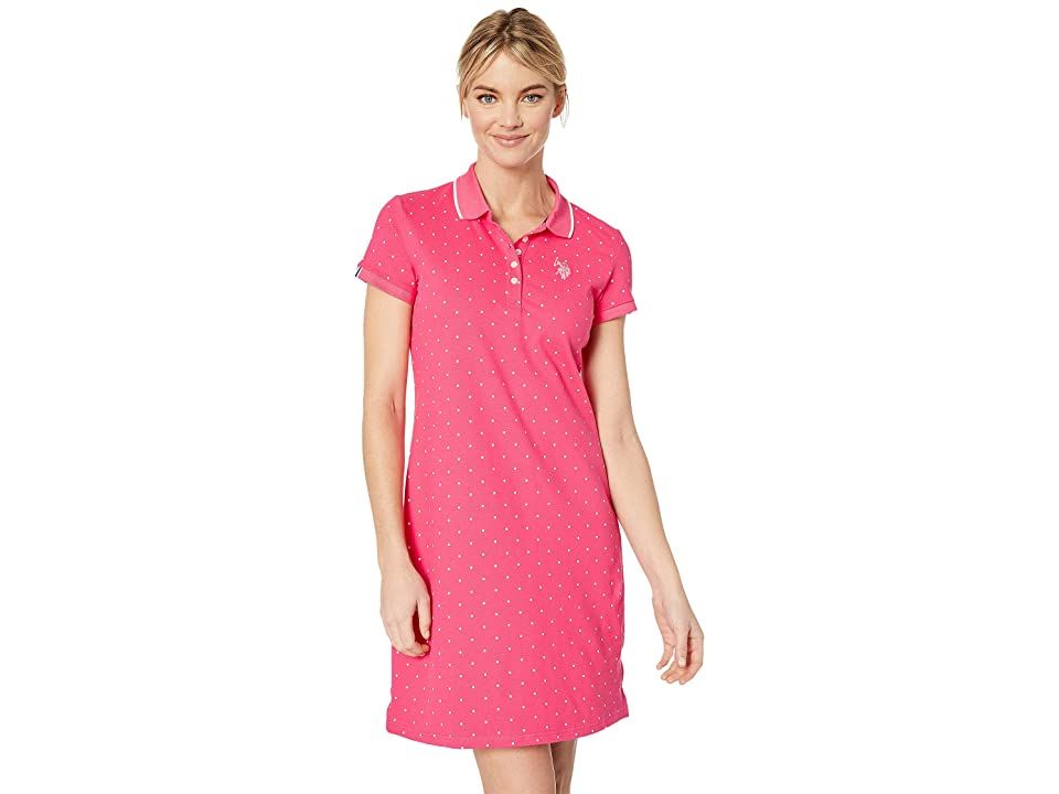 U.S. POLO ASSN. Dot Polo Dress (Shangri La Rose) Women