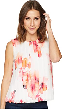 Printed Bubble Front Top