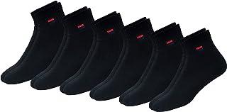 NAVYSPORT, Cojín De Algodón Comodidad Trimestre Calcetines Deportivos de los hombres|Negro (6 Pares)|5-8 UK (tamaño del zapato)