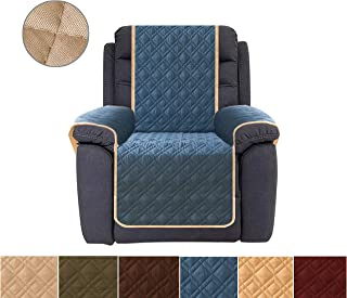 Ameritex Recliner Cover, Reversible Quilted Furniture Protector, Ideal Recliner Slipcovers for Pets & Children, Water Resistant, Will Keep Your Couch Stain, Dirt & Scratches-Free (Navy, 23'')