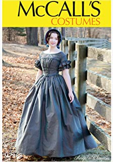 McCall's M7988 14-22 Sewing Pattern Ladies Colonial Gown Pleated Bodice Ruffled Sleeves Costume