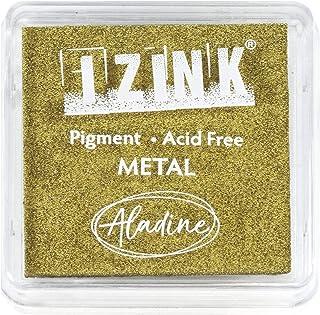 Aladine - Encreur Izink Pigment Gold - Grand Encreur à Séchage Lent - Scrapbooking, Embossing et Carterie Créative - Taill...