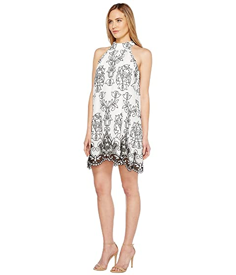 Badgley Linen Dress Trapeze Mischka Embroidered PcWPnxBC