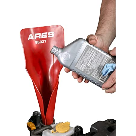 ARES 56027 - Universal Flexible Oil Funnel - Spill-Free Oil Filling - Easy to Use 1-Person Design - Fits Multiple Applications