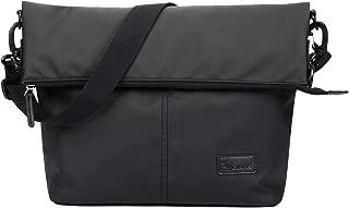 OIWAS Men's Messenger Bag for Women Shoulder Crossbody Backpack Satchel Travel College Work Business School Black