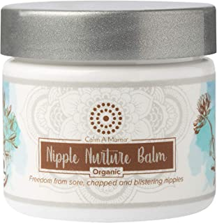 Nipple Nurture Balm For Breastfeeding Moms – USDA Organic – Made in USA - Lanolin-Free Nipple Cream Salve For Sensitive Skin – Baby Safe, No Need To Wipe – 2 oz