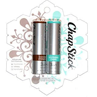 Chapstick Total Hydration Coconut & Soothing Oasis 0.12ozx2