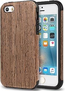 d8122470659 TENDLIN Funda iPhone SE Grano de Madera Silicona TPU Híbrido Suave Carcasa  para iPhone SE 5S