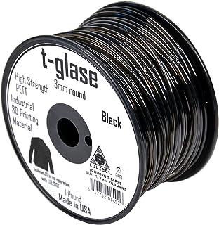 (Black) - Aleph Objects Inc.Taulman Filament, T-glase, 3 mm, 0.5kg. Reel, Black