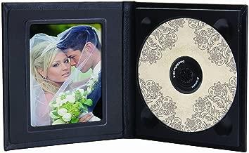 Classic Leather CD/DVD Holder w/Optional Photo (Black)