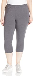Just My Size Women's Plus-Size Stretch Jersey Capri
