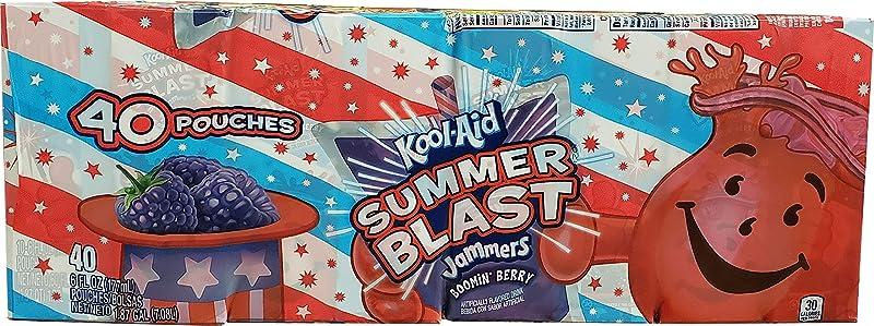 Kool Aid Kool Aid Summer Blast Jammers Boomin Berry Flavored Drink 40 X 6 FL Oz Pouches Net Wt 240 Fl Oz 240 Fl Oz