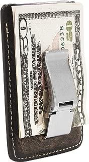 HOJ Co. WYATT Money Clip Wallet-Front Pocket Wallet-Full Grain Leather-Metal Money Clip Wallet-Slim Wallet-Card Case