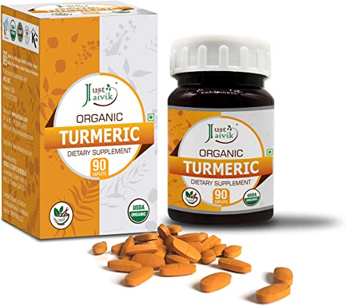 Just Jaivik Organic Turmeric Haldi Curcuma Longa Tablets A Dietary Supplements 750 Mg Pack 90 Organic Tablets Supports Digestion And Overall Health And Well Being