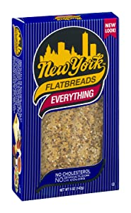 New York All Natural Flatbreads, Everything, 5 Ounce