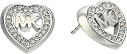 Love Is In The Air Pave Heart Stud Earrings