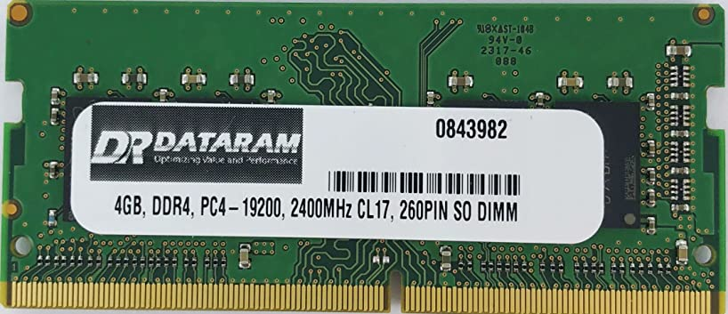 DATARAM 4GB DDR4 PC4-2400 SO DIMM Memory RAM Compatible with ASUS VIVOMINI VC66
