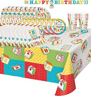 abc birthday party supplies