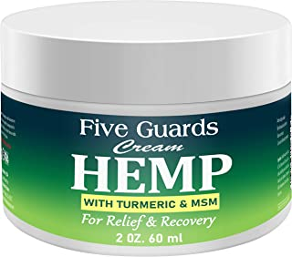 Hemp Extract Pain Relief Cream 3500 Mg- Hemp Cream with EMU oil, Turmeric, Frankincense MSM and Hemp, Relieves inflammation, Muscle, Joint, Back, Knee, Nerves & Arthritis Pain - Made in USA