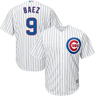 83c09d8c26b Majestic Javier Baez Chicago Cubs MLB Youth White Home Cool Base Replica  Jersey