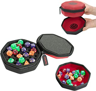 Protective Padded Dice Case & Integrated Felt Dice Tray for Board Games, Tabletop Games and RPGs - Holds & Protects Over 7...