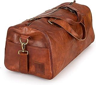 Berliner Bags Weekender Oslo Reisetasche aus Leder Damen Herren Braun Groß 45l