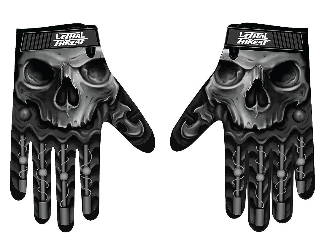 区別部方向Lethal Threatメンズ手袋(スカルメンズHand ) (、、1パック M ブラック GL15004M
