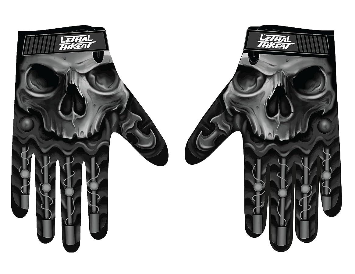 著者別々に乳Lethal Threatメンズ手袋(スカルメンズHand ) (、、1パック M ブラック GL15004M