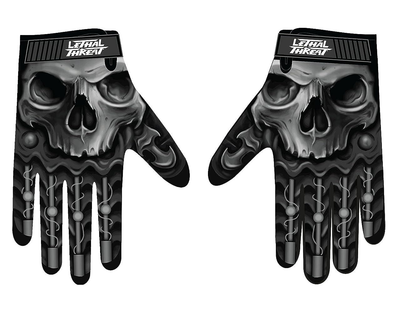 うまれた解くミリメートルLethal Threatメンズ手袋(スカルメンズHand ) (、、1パック M ブラック GL15004M