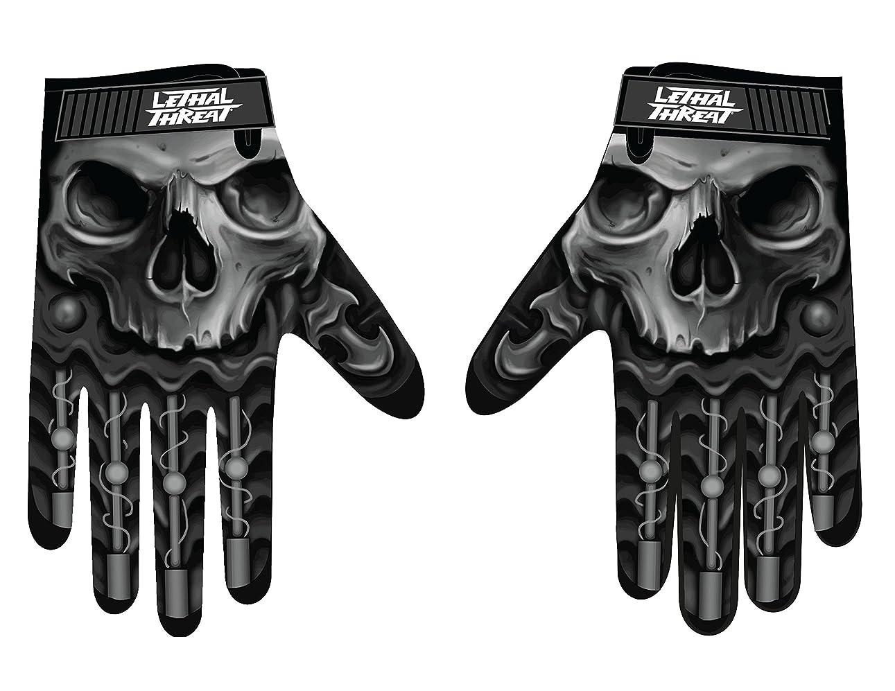 お客様読むアレルギー性Lethal Threatメンズ手袋(スカルメンズHand ) (、、1パック M ブラック GL15004M