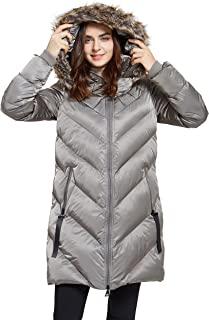svacuam Women's Heavy Padded Winter Parka Winter Thicken Puffer Coat with Faux Fur Hood