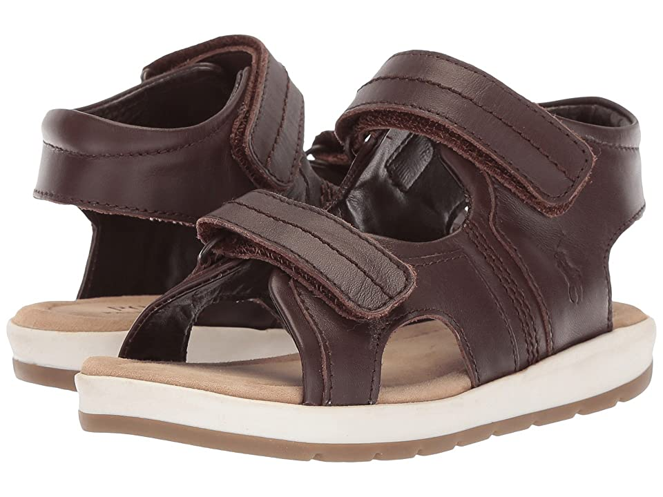 Polo Ralph Lauren Kids Duncen (Toddler) (Chocolate Full Grain Leather) Boy