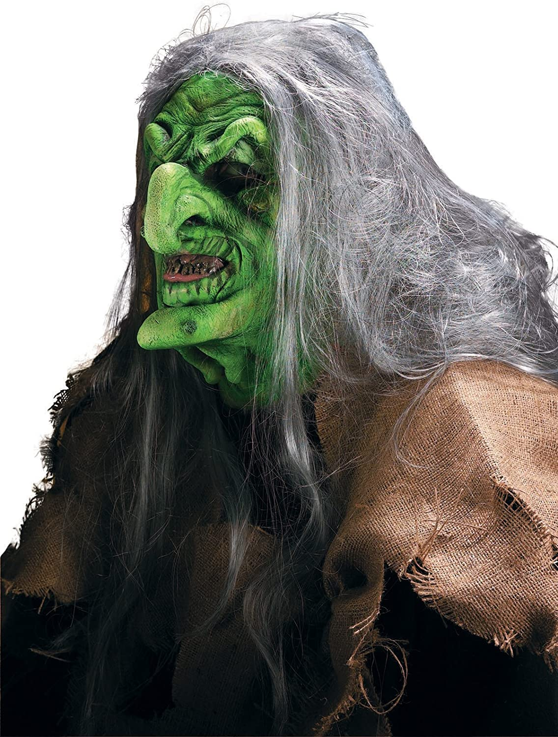 Rubie's Reel Denver Mall FX Green Witch Quality Theater Costume Free shipping Mask Makeup