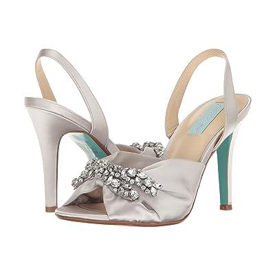 Blue by Betsey Johnson Briel (Silver Satin) High Heels