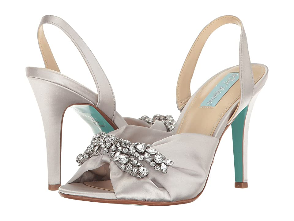 Blue by Betsey Johnson Briel (Silver Satin) High Heels