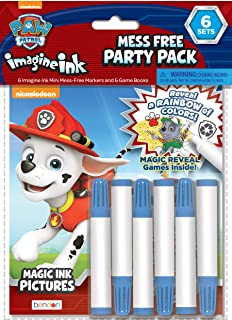 Nickelodeon PAW Patrol Imagine Ink Coloring Book 6-Pack Party Supplies 30223-TG Bendon