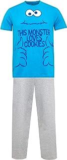 Sesame Street Mens Cookie Monster Pyjamas