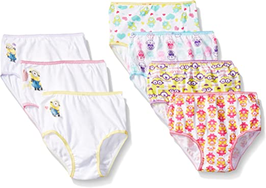 Minion in panties Amazon Com Despicable Me Girls Minion Toddler 7pk Panty Clothing Shoes Jewelry