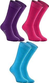 Rainbow Socks, Hombre Mujer Calcetines de Felpa Calidos y Coloridos 3 Pares