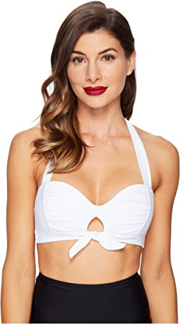 Unique Vintage Mrs. West Halter Bikini Top