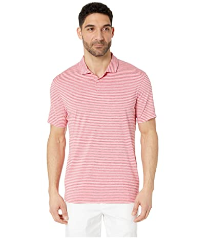 Nike Golf Dry Stripe Polo (Gym Red) Men