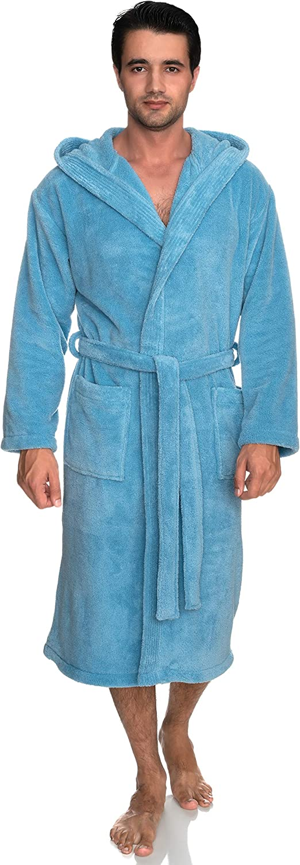 TowelSelections Men's Robe, Plush Fleece Hooded Spa Bathrobe