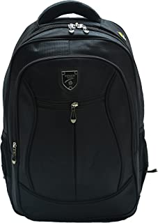 School Bag Waterproof and Anti Theft Laptop Backpack With Large Capacity Size 16 Inch - Black