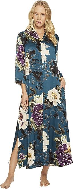 N by Natori - Floral Dynasty Zip Caftan