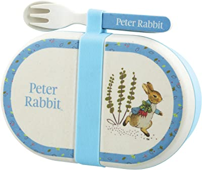 Official Beatrix Potter Organic Snack Box with Cutlery - Peter Rabbit
