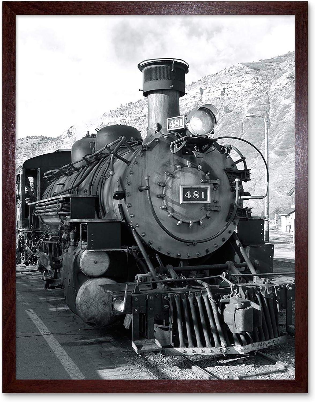 Photograph Black White Train Steam Print Award Front Art Engine Oakland Mall Framed