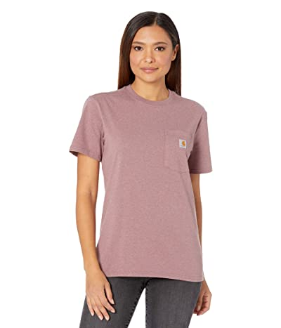 Carhartt WK87 Workwear Pocket Short Sleeve T-Shirt (Raisin Heather) Women